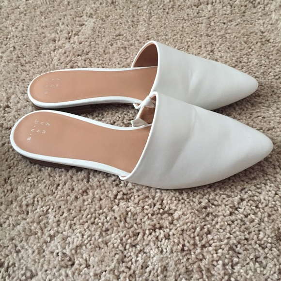 White Mules From Target Size